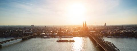 panoramic view of cologne city at dusk- Stock Photo or Stock Video of rcfotostock | RC-Photo-Stock
