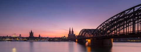panoramic view of cologne skyline at sunset- Stock Photo or Stock Video of rcfotostock | RC-Photo-Stock