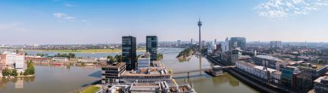 panoramic view of Dusseldorf with tv tower and media harbour- Stock Photo or Stock Video of rcfotostock   RC-Photo-Stock