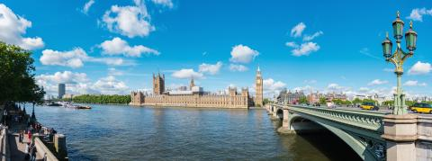 Panoramic view of the Houses of Parliament, Big Ben and Westminster Bridge, London : Stock Photo or Stock Video Download rcfotostock photos, images and assets rcfotostock | RC-Photo-Stock.:
