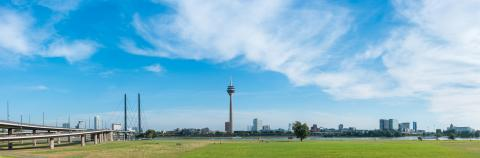 panoramic view on the town of Dusseldorf at summer- Stock Photo or Stock Video of rcfotostock | RC-Photo-Stock