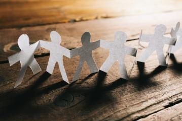 Paper People Holding Hands Teamwork- Stock Photo or Stock Video of rcfotostock | RC-Photo-Stock