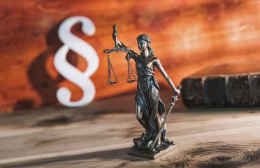 Paragraph icon with Statue of Justice - lady justice or Iustitia / Justitia the Roman goddess of Justice in a lawyer office : Stock Photo or Stock Video Download rcfotostock photos, images and assets rcfotostock | RC-Photo-Stock.: