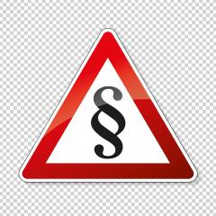 Paragraph, right, law and insurance sign. German traffic sign with Paragraph or attention sign on checked transparent background. Vector illustration. Eps 10 vector file.- Stock Photo or Stock Video of rcfotostock | RC-Photo-Stock