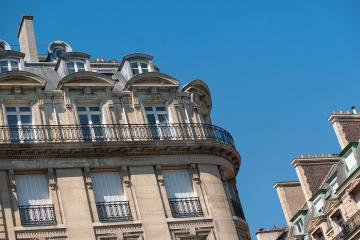 Paris, beautiful Haussmann buildings in a chic area of the french capital - Stock Photo or Stock Video of rcfotostock | RC-Photo-Stock