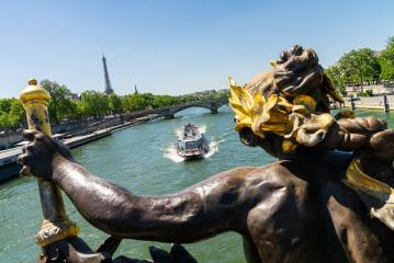 Paris Eiffel Tower and Pont Alexandre III in Paris, France- Stock Photo or Stock Video of rcfotostock | RC-Photo-Stock
