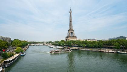Paris Eiffel Tower and river Seine- Stock Photo or Stock Video of rcfotostock | RC-Photo-Stock