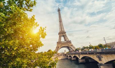 Paris, Eiffel tower at sunrise- Stock Photo or Stock Video of rcfotostock | RC-Photo-Stock