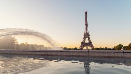 Paris Eiffel Tower at sunrise- Stock Photo or Stock Video of rcfotostock | RC-Photo-Stock