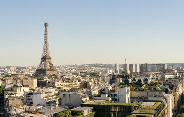 Paris Eiffel Tower, copyspace for your individual text.- Stock Photo or Stock Video of rcfotostock | RC-Photo-Stock