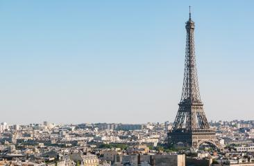 Paris Eiffel Tower, copyspace for your individual text. : Stock Photo or Stock Video Download rcfotostock photos, images and assets rcfotostock | RC-Photo-Stock.: