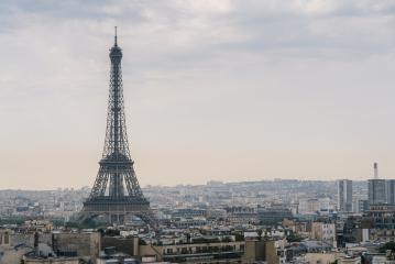 Paris Eiffel Tower with skyline- Stock Photo or Stock Video of rcfotostock | RC-Photo-Stock