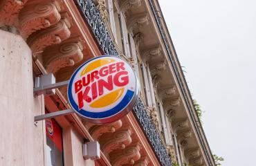 PARIS, FRANCE SEPTEMBER, 2017: Burger King sign on a building. Burger King, often abbreviated as BK, is a global chain of hamburger fast food restaurants,United States.- Stock Photo or Stock Video of rcfotostock | RC-Photo-Stock