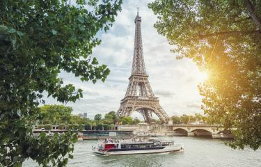 Paris Seine view with Eiffel tower and ship at summer : Stock Photo or Stock Video Download rcfotostock photos, images and assets rcfotostock | RC-Photo-Stock.: