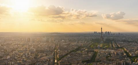 Paris Skyline at sunset with Eiffel Tower- Stock Photo or Stock Video of rcfotostock | RC-Photo-Stock