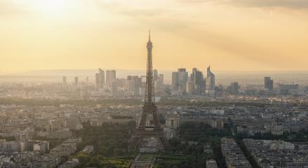 Paris skyline sunset from the Montparnass tower- Stock Photo or Stock Video of rcfotostock | RC-Photo-Stock