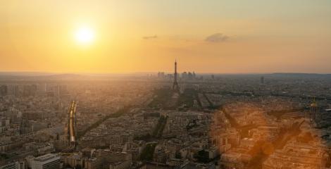 Paris Skyline sunset panorama- Stock Photo or Stock Video of rcfotostock | RC-Photo-Stock
