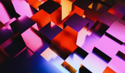 Party background of colorful neon light cubes in agrid- Stock Photo or Stock Video of rcfotostock | RC-Photo-Stock
