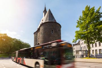 passenger Transport by bus in Aachen - Stock Photo or Stock Video of rcfotostock | RC-Photo-Stock