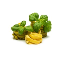 pasta nests mix with basil leaf- Stock Photo or Stock Video of rcfotostock | RC-Photo-Stock