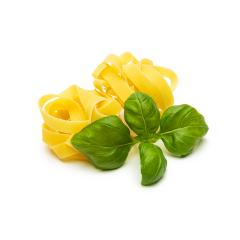 pasta noddle nests with basil leaf- Stock Photo or Stock Video of rcfotostock | RC-Photo-Stock