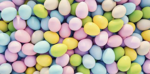 pastel colored easter eggs background - 3D Rendering : Stock Photo or Stock Video Download rcfotostock photos, images and assets rcfotostock | RC-Photo-Stock.: