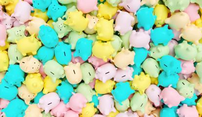 pastel piggy banks on a pile, investment and development concept image : Stock Photo or Stock Video Download rcfotostock photos, images and assets rcfotostock | RC-Photo-Stock.: