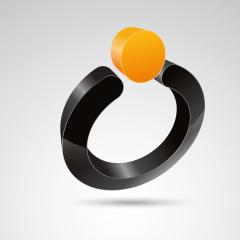 pearl ring 3d vector icon as logo formation in black and orange glossy colors, Corporate design. Vector illustration. Eps 10 vector file.- Stock Photo or Stock Video of rcfotostock | RC-Photo-Stock