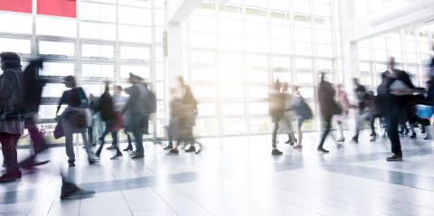 People at a rush on a Exhibition floor- Stock Photo or Stock Video of rcfotostock | RC-Photo-Stock