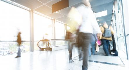 People in motion at a airport corridor- Stock Photo or Stock Video of rcfotostock | RC-Photo-Stock