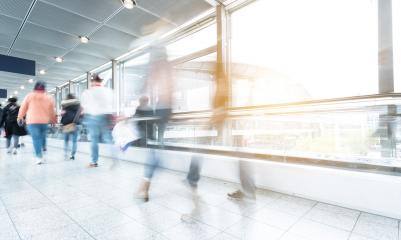 people in motion using a escalator in a modern hall- Stock Photo or Stock Video of rcfotostock | RC-Photo-Stock