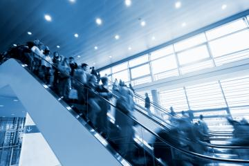 people in rush at a escalator- Stock Photo or Stock Video of rcfotostock | RC-Photo-Stock