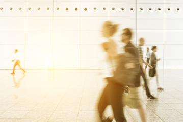 People walking at a trade show- Stock Photo or Stock Video of rcfotostock | RC-Photo-Stock