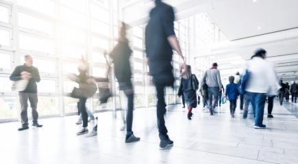 People Walking at a traid fair floor with motion blur- Stock Photo or Stock Video of rcfotostock | RC-Photo-Stock