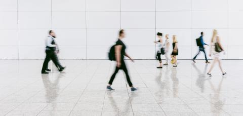 people walking in a modern hall- Stock Photo or Stock Video of rcfotostock | RC-Photo-Stock