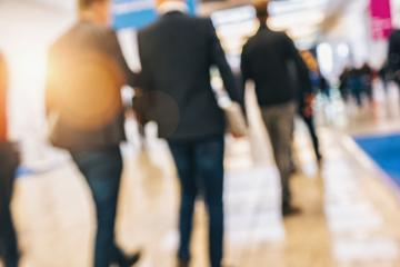 people walking in trade fair Intentionally blurred background- Stock Photo or Stock Video of rcfotostock | RC-Photo-Stock