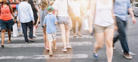 People walking on zebra crossing - Crowded streets of New York City during rush hour in urban business area- Stock Photo or Stock Video of rcfotostock | RC-Photo-Stock