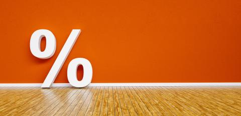 percentage Sign Leaning on a red wall - 3D Rendering : Stock Photo or Stock Video Download rcfotostock photos, images and assets rcfotostock | RC-Photo-Stock.: