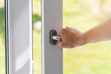 person opens a white pvc window- Stock Photo or Stock Video of rcfotostock | RC-Photo-Stock