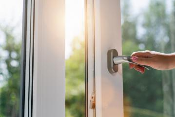 person opens a window with sunlight- Stock Photo or Stock Video of rcfotostock | RC-Photo-Stock