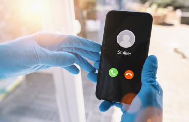 Phone call from a stalker at during coronavirus epidemic. Stalking or bullying with smartphone concept. Stalker caller, scammer or stranger. Man answering to incoming call. Ex Girlfriend with fake id.- Stock Photo or Stock Video of rcfotostock | RC-Photo-Stock