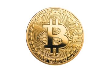 physical bitcoin isolated on white background- Stock Photo or Stock Video of rcfotostock | RC-Photo-Stock