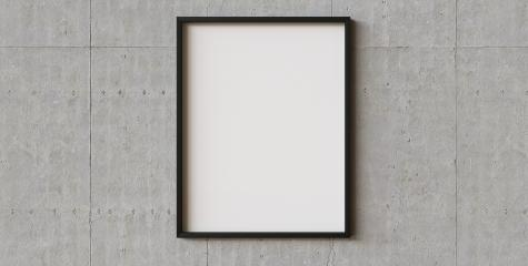 picture frame on concrete wall background. Perfect for your presentations or exhibitions- Stock Photo or Stock Video of rcfotostock | RC-Photo-Stock