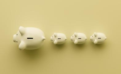 piggy bank as row leader, investment and development concept- Stock Photo or Stock Video of rcfotostock | RC-Photo-Stock