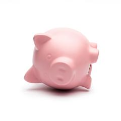 Piggy bank lying on the side- Stock Photo or Stock Video of rcfotostock | RC-Photo-Stock