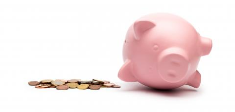 Piggy bank was robbed- Stock Photo or Stock Video of rcfotostock | RC-Photo-Stock