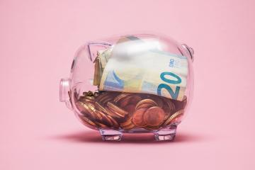 piggy bank with cash noters and coins : Stock Photo or Stock Video Download rcfotostock photos, images and assets rcfotostock | RC-Photo-Stock.: