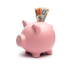 Piggy Bank with euro notes- Stock Photo or Stock Video of rcfotostock | RC-Photo-Stock