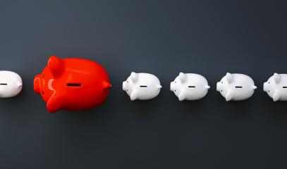 piggy banks in a row, investment and development concept image- Stock Photo or Stock Video of rcfotostock | RC-Photo-Stock
