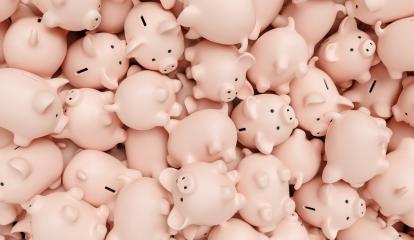 piggy banks on a pile, investment and development concept image- Stock Photo or Stock Video of rcfotostock | RC-Photo-Stock